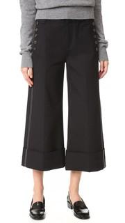 Широкая юбка-брюки с манжетами Derek Lam 10 Crosby