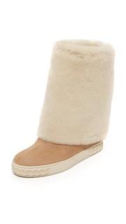 Замшевые ботинки Casadei