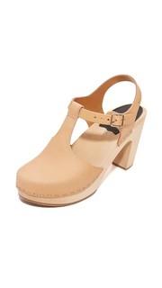 Обувь на каблуках с T-образным ремешком Swedish Hasbeens