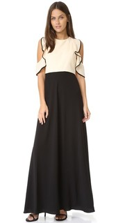 Вечернее платье с оборчатой отделкой Jill Jill Stuart