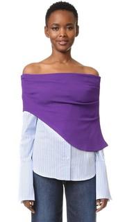 Рубашка на пуговицах с открытыми плечами Jacquemus