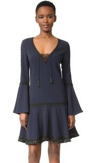 Платье-туника с отделкой из крепа Jonathan Simkhai