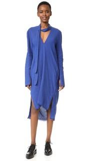 Удлиненное сзади платье с V-образным вырезом Kitx