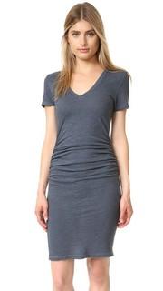 Платье-футболка со сборками Lanston