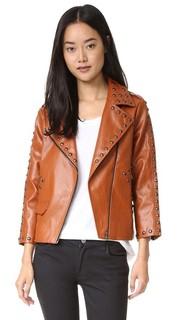 Байкерская куртка с заклепками Line & Dot