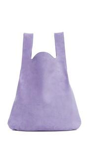 Объемная сумка-шоппер с короткими ручками MM6