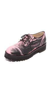 Кожаные ботинки на шнурках Moschino