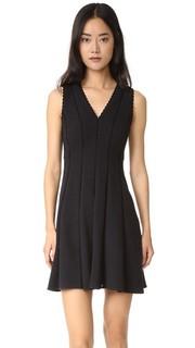 Платье без рукавов с ромбовидной текстурой Rebecca Taylor