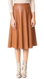 Миди-юбка из искусственной кожи Rebecca Taylor
