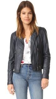 Куртка из потертой кожи Rebecca Taylor