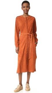 Замшевое платье с планкой Tibi