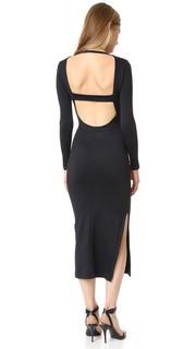 Миди-платье с низким вырезом на спине David Lerner