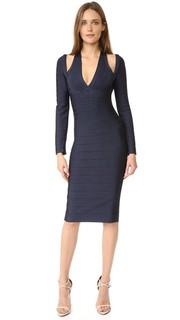 Платье Nina с открытыми плечами Herve Leger