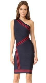 Платье с открытым плечом Kayla Herve Leger