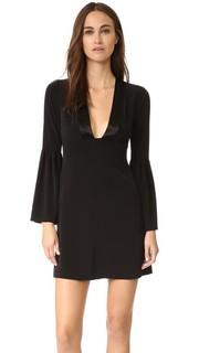 Платье с расклешенными рукавами и глубоким V-образным вырезом Jill Jill Stuart