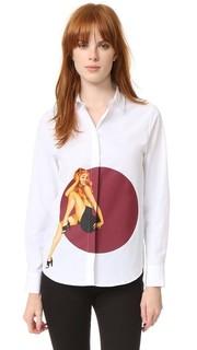 Блуза на пуговицах из ткани в рубчик Jour/Ne