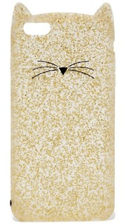 Чехол для iPhone 6 Plus/6s Plus с блестками и изображением кота Kate Spade New York