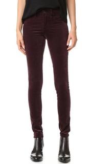 Велюровые джинсы-скинни Rag & Bone/Jean