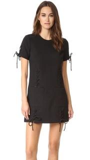 Кружевное платье из сетчатого кружева с короткими рукавами Kendall + Kylie