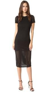 Миди-платье с лазерной перфорацией Kendall + Kylie