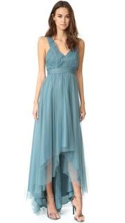 Асимметричное вечернее платье из тюля Monique Lhuillier Bridesmaids