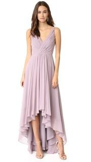Асимметричное вечернее платье из шифона Monique Lhuillier Bridesmaids
