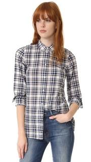 Облегающая рубашка в мужском стиле в клетку Madewell