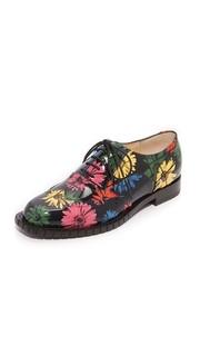 Ботинки на шнурках с принтом Moschino