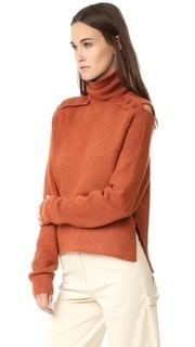 Пуловер из вареного трикотажа с воротником-трубой Tibi