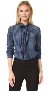 Блуза Olivia с завязками на вырезе AMO