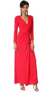 Платье с перекрученным передом Badgley Mischka Collection