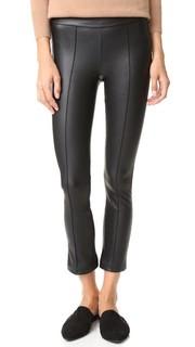 Расклешенные укороченные брюки с защипами David Lerner
