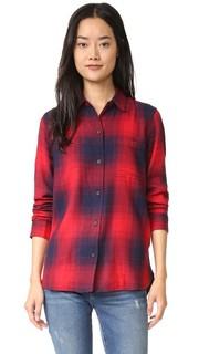 Рубашка Ex BF в красную и синюю клетку Madewell