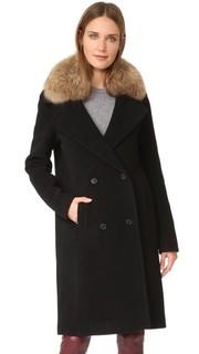 Пальто Farrah с меховой отделкой Soia & Kyo