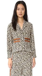 Шелковая пижамная блуза Derek Lam 10 Crosby