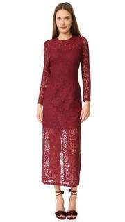 Кружевное платье с длинными рукавами Cynthia Rowley
