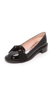 Кожаная обувь на плоской подошве Rochas