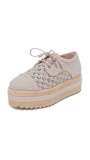 Ботинки на шнурках из ткани на платформе Zimmermann