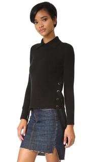 Укороченный свитер с завязками сбоку Frame