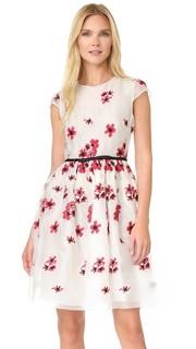 Платье с цветочным рисунком Giambattista Valli
