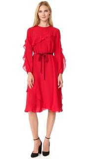 Шелковое платье с оборками Leur Logette