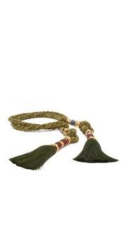 Пояс-веревка Moss с кисточками Lizzie Fortunato