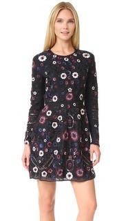 Платье Folk с длинными рукавами и вышивкой Needle & Thread