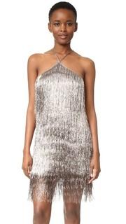 Металлизированное платье с бахромой Rachel Zoe
