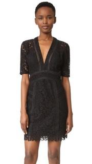 Прошитое кружевное мини-платье Sage Veronica Beard