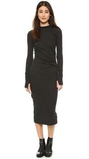 Платье с длинными рукавами и рюшами Enza Costa