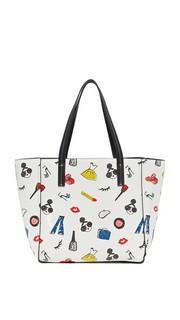 Простая объемная сумка среднего размера с короткими ручками и принтом Stacey Alice + Olivia