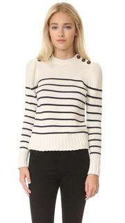 Хлопковый пуловер в полоску La Vie Rebecca Taylor