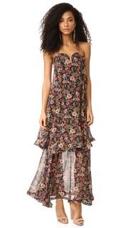 Платье без бретелек в стиле 70-х гг. с цветочным рисунком и бантиком Nicholas