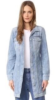 Длинная классическая джинсовая куртка 7 For All Mankind